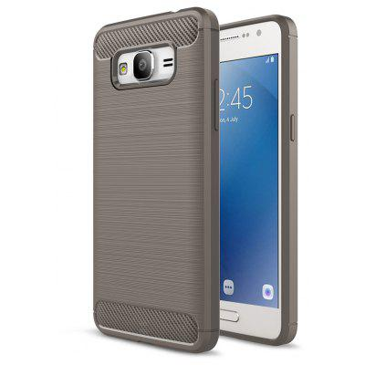 Buy GRAY Luanke Brushed Finish Soft Cover for Samsung Galaxy J2 Prime for $5.71 in GearBest store