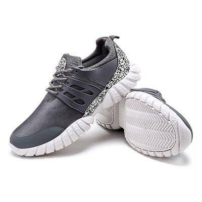 Male Breathable Elastic Lace Up Split Joint Sports ShoesMen's Sneakers<br>Male Breathable Elastic Lace Up Split Joint Sports Shoes<br><br>Closure Type: Lace-Up<br>Contents: 1 x Pair of Shoes<br>Decoration: Split Joint<br>Lining Material: Mesh<br>Materials: Mesh, Plastic, Artificial leather<br>Occasion: Sports, Outdoor Clothing, Holiday, Daily, Casual, Running<br>Outsole Material: Plastic<br>Package Size ( L x W x H ): 25.00 x 18.00 x 11.00 cm / 9.84 x 7.09 x 4.33 inches<br>Package Weights: 1.02kg<br>Seasons: Autumn,Spring<br>Style: Modern, Leisure, Fashion, Comfortable, Casual<br>Toe Shape: Round Toe<br>Type: Sports Shoes<br>Upper Material: Artificial leather