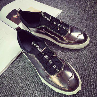 Male Stylish Slip On Stitching Patent Leather ShoesMen's Sneakers<br>Male Stylish Slip On Stitching Patent Leather Shoes<br><br>Closure Type: Slip-On<br>Contents: 1 x Pair of Shoes<br>Function: Slip Resistant<br>Materials: Rubber, PU<br>Occasion: Shopping, Holiday, Daily, Casual, Party<br>Outsole Material: Rubber<br>Package Size ( L x W x H ): 33.00 x 24.00 x 13.00 cm / 12.99 x 9.45 x 5.12 inches<br>Package Weights: 0.92kg<br>Pattern Type: Solid<br>Seasons: Autumn,Spring<br>Style: Modern, Leisure, Fashion, Casual<br>Toe Shape: Round Toe<br>Type: Casual Shoes<br>Upper Material: PU