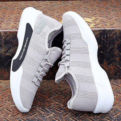 Male Breathable Wearable Mesh Running SneakersMen's Sneakers<br>Male Breathable Wearable Mesh Running Sneakers<br><br>Closure Type: Lace-Up<br>Contents: 1 x Pair of Shoes<br>Decoration: Weave<br>Function: Slip Resistant<br>Materials: PU, Rubber, Woven Fabric, Mesh<br>Occasion: Sports, Outdoor Clothing, Daily, Casual, Running<br>Outsole Material: Rubber<br>Package Size ( L x W x H ): 25.00 x 18.00 x 11.00 cm / 9.84 x 7.09 x 4.33 inches<br>Package Weights: 0.68kg<br>Pattern Type: Solid<br>Seasons: Autumn,Spring,Summer<br>Style: Modern, Leisure, Fashion, Comfortable, Casual<br>Toe Shape: Round Toe<br>Type: Sports Shoes<br>Upper Material: Mesh,PU