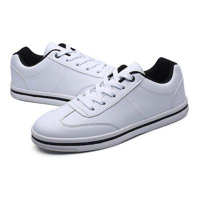 Male Simple Casual Stitching Lace Up Leather ShoesMen's Sneakers<br>Male Simple Casual Stitching Lace Up Leather Shoes<br><br>Closure Type: Lace-Up<br>Contents: 1 x Pair of Shoes<br>Function: Slip Resistant<br>Materials: Rubber, Leather<br>Occasion: Shopping, Holiday, Daily, Casual<br>Outsole Material: Rubber<br>Package Size ( L x W x H ): 33.00 x 22.00 x 11.00 cm / 12.99 x 8.66 x 4.33 inches<br>Package Weights: 0.77kg<br>Pattern Type: Solid<br>Seasons: Autumn,Spring<br>Style: Modern, Leisure, Fashion, Comfortable, Casual<br>Toe Shape: Round Toe<br>Type: Casual Leather Shoes<br>Upper Material: Leather