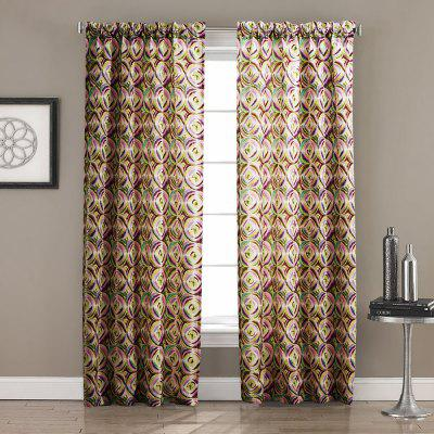 2PCS Ink-jet Printing Design Window Curtain