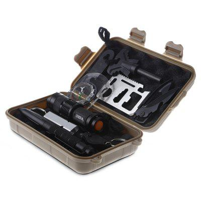 Multifunctional Survival Tool KitOther Survival and Emergency Gears<br>Multifunctional Survival Tool Kit<br><br>Package Contents: 1 x Survival Tool Kit<br>Package Size(L x W x H): 17.00 x 11.00 x 5.50 cm / 6.69 x 4.33 x 2.17 inches<br>Package weight: 3.4300 kg<br>Product Size(L x W x H): 16.50 x 10.50 x 5.00 cm / 6.5 x 4.13 x 1.97 inches<br>Product weight: 3.2800 kg