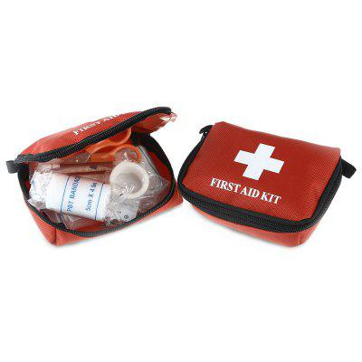 2PCS Portable 10 in 1 Emergency First Aid Kit Medical Bag