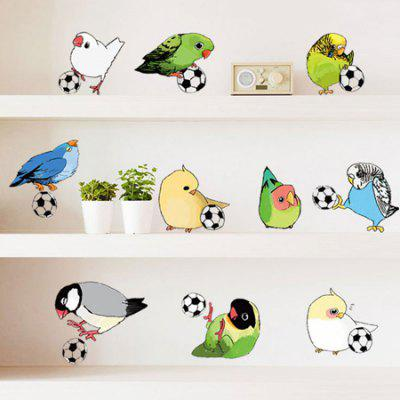 DSU Creative Playing Birds Wall Sticker Wallpaper