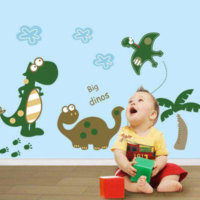 DSU Creative Cute Little Dinosaur Wall Sticker WallpaperWall Stickers<br>DSU Creative Cute Little Dinosaur Wall Sticker Wallpaper<br><br>Brand: DSU<br>Functions: Decorative Wall Stickers<br>Hang In/Stick On: Bedrooms,Kids Room,Living Rooms<br>Material: Self-adhesive Plastic, Vinyl(PVC)<br>Package Contents: 1 x Sticker<br>Package size (L x W x H): 55.00 x 5.00 x 5.00 cm / 21.65 x 1.97 x 1.97 inches<br>Package weight: 0.1100 kg<br>Product size (L x W x H): 50.00 x 70.00 x 0.10 cm / 19.69 x 27.56 x 0.04 inches<br>Product weight: 0.0900 kg
