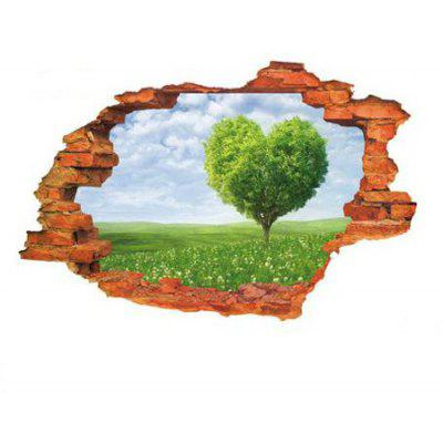 Buy COLORMIX 3D Green Tree Wall Sticker Home Decoration for $5.61 in GearBest store