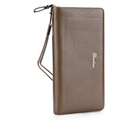 Buy KHAKI Banlear Men Solid Color Clutch Wallet for $27.42 in GearBest store