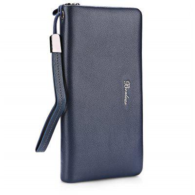 Buy BLUE Banlear Men Solid Color Clutch Wallet for $27.42 in GearBest store