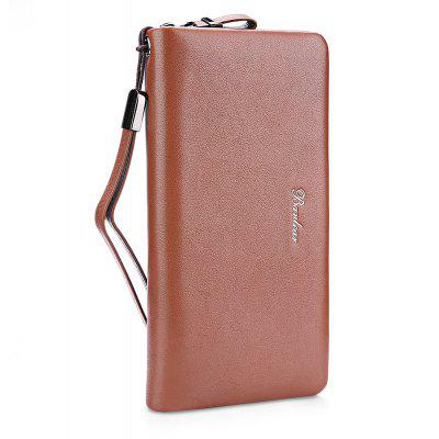 Buy BROWN Banlear Men Solid Color Clutch Wallet for $27.42 in GearBest store