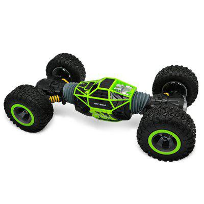 UD2168A Double-sided 2.4GHz RC Stunt Car - RTRRC Cars<br>UD2168A Double-sided 2.4GHz RC Stunt Car - RTR<br><br>Age: Above 14 years old<br>Battery Information: 9.6V 1000mAh NiMH<br>Car Power: Built-in rechargeable battery<br>Control Distance: 30-80m<br>Detailed Control Distance: 30~40m<br>Drive Type: 4 WD<br>Features: Radio Control<br>Functions: Turn left/right, Stunt, Head Up, Flip, Forward/backward<br>Material: Electronic Components, ABS<br>Motor Type: Brushed Motor<br>Package Contents: 1 x RC Stunt Car ( Battery Included ), 1 x Transmitter, 1 x English Manual<br>Package size (L x W x H): 50.50 x 38.50 x 14.50 cm / 19.88 x 15.16 x 5.71 inches<br>Package weight: 2.5500 kg<br>Product size (L x W x H): 49.00 x 28.00 x 13.00 cm / 19.29 x 11.02 x 5.12 inches<br>Product weight: 2.2500 kg<br>Racing Time: 14~15mins<br>Remote Control: 2.4GHz Wireless Remote Control<br>Speed: 10km/h<br>Transmitter Power: 2 x 1.5V AA battery (not included)<br>Type: Stunt Car, Off-Road Car