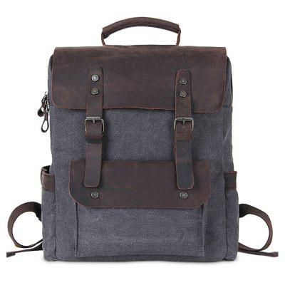 Chic Splicing Men Canvas Computer Backpack