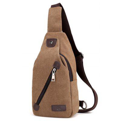 Buy BROWN Men Leisure Canvas Chest Bag for $18.49 in GearBest store