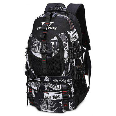 Buy BLACK WHITE Chic Printing Large Capacity Men Backpack for $36.15 in GearBest store