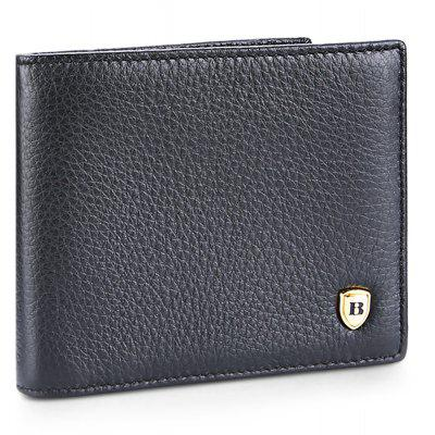 Buy BLACK Banlear Classical Solid Color Men Wallet for $11.25 in GearBest store