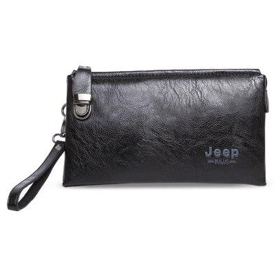 Buy BLACK Men Leisure PU Wallet with Zipper for $18.05 in GearBest store
