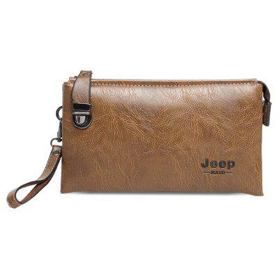 Buy KHAKI Men Leisure PU Wallet with Zipper for $18.05 in GearBest store