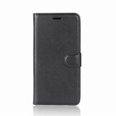 PU Leather Lichee Grain Wallet Phone Case for iPhone X