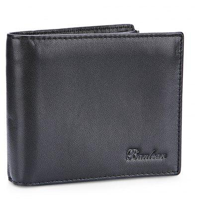 Buy BLACK Banlear Genuine Leather Men Bifold Wallet for $13.68 in GearBest store