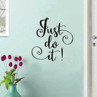 Creative Household English Proverbs Wall StickerWall Stickers<br>Creative Household English Proverbs Wall Sticker<br><br>Functions: Decorative Wall Stickers<br>Hang In/Stick On: Bedrooms<br>Package Contents: 1 x Wall Sticker<br>Package size (L x W x H): 40.00 x 4.00 x 4.00 cm / 15.75 x 1.57 x 1.57 inches<br>Package weight: 0.1100 kg<br>Product weight: 0.0700 kg