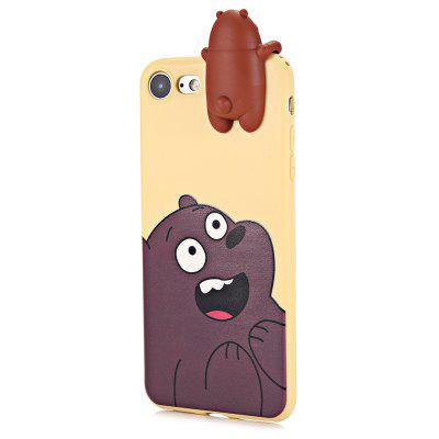 3D Solid Cute Bear Silicone Soft Phone Case for iPhone 7