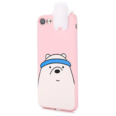 3D Solid Cute Cartoon Bear Silicone Phone Case for iPhone 7