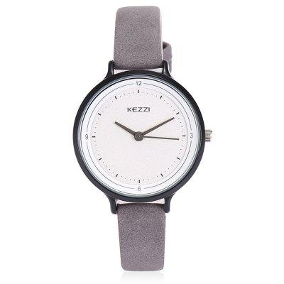KEZZI 1726 Student Quartz WatchWomens Watches<br>KEZZI 1726 Student Quartz Watch<br><br>Band material: Leather<br>Band size: 22 x 1cm<br>Brand: Kezzi<br>Case material: Alloy<br>Clasp type: Pin buckle<br>Dial size: 3.4 x 3.4 x 0.8cm<br>Display type: Analog<br>Movement type: Quartz watch<br>Package Contents: 1 x Watch<br>Package size (L x W x H): 25.00 x 4.50 x 1.00 cm / 9.84 x 1.77 x 0.39 inches<br>Package weight: 0.0450 kg<br>Product size (L x W x H): 22.00 x 3.40 x 0.80 cm / 8.66 x 1.34 x 0.31 inches<br>Product weight: 0.0220 kg<br>Shape of the dial: Round<br>Watch style: Casual<br>Watches categories: Women<br>Water resistance : Life water resistant<br>Wearable length: 16 - 20cm