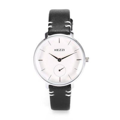 KEZZI 1717 Women Quartz WatchWomens Watches<br>KEZZI 1717 Women Quartz Watch<br><br>Band material: Leather<br>Band size: 22 x 1.2cm<br>Case material: Alloy<br>Clasp type: Pin buckle<br>Dial size: 3.3 x 3.3 x 0.8cm<br>Display type: Analog<br>Movement type: Quartz watch<br>Package Contents: 1 x Watch<br>Package size (L x W x H): 25.00 x 4.50 x 1.00 cm / 9.84 x 1.77 x 0.39 inches<br>Package weight: 0.0490 kg<br>Product size (L x W x H): 22.00 x 3.30 x 0.80 cm / 8.66 x 1.3 x 0.31 inches<br>Product weight: 0.0260 kg<br>Shape of the dial: Round<br>Watch style: Fashion<br>Watches categories: Women<br>Water resistance : Life water resistant<br>Wearable length: 16 - 20cm