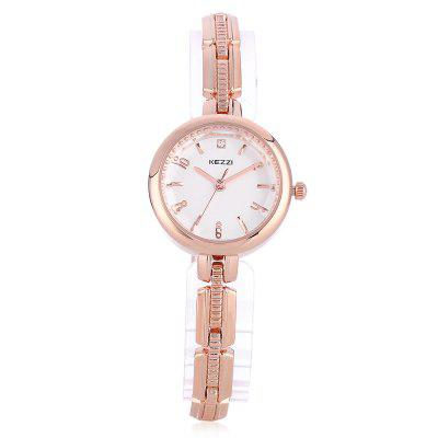 KEZZI 1709 Elegant Women Chain WatchWomens Watches<br>KEZZI 1709 Elegant Women Chain Watch<br><br>Available Color: Gold,Silver<br>Band material: Alloys<br>Band size: 20 x 0.7cm<br>Brand: Kezzi<br>Case material: Alloy<br>Clasp type: Sheet folding clasp<br>Dial size: 2.5 x 2.5 x 0.8cm<br>Display type: Analog<br>Movement type: Quartz watch<br>Package Contents: 1 x Chain Watch<br>Package size (L x W x H): 25.00 x 4.50 x 1.00 cm / 9.84 x 1.77 x 0.39 inches<br>Package weight: 0.0550 kg<br>Product size (L x W x H): 20.00 x 2.50 x 0.80 cm / 7.87 x 0.98 x 0.31 inches<br>Product weight: 0.0320 kg<br>Shape of the dial: Round<br>Watch style: Fashion<br>Watches categories: Women<br>Water resistance : Life water resistant