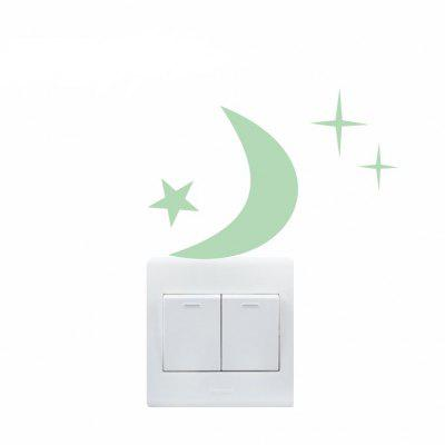 Luminous Moon and Star Pattern Switch StickerWall Stickers<br>Luminous Moon and Star Pattern Switch Sticker<br><br>Art Style: Plane Wall Stickers<br>Functions: Decorative Wall Stickers<br>Hang In/Stick On: Bedrooms,Kids Room,Living Rooms<br>Material: Vinyl(PVC), Self-adhesive Plastic<br>Package Contents: 1 x Sticker<br>Package size (L x W x H): 15.00 x 10.00 x 0.20 cm / 5.91 x 3.94 x 0.08 inches<br>Package weight: 0.0450 kg<br>Product size (L x W x H): 9.00 x 10.00 x 0.20 cm / 3.54 x 3.94 x 0.08 inches<br>Product weight: 0.0200 kg<br>Subjects: Others
