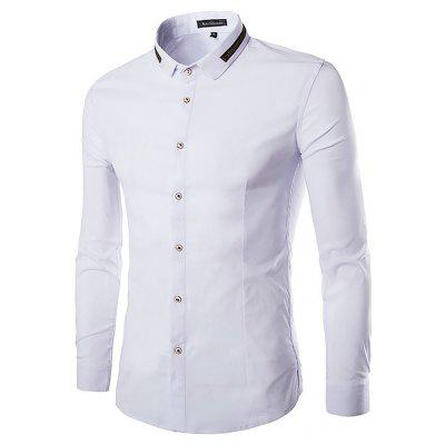 Buy WHITE Business Fashion Classical Long Sleeve Shirt for $20.31 in GearBest store