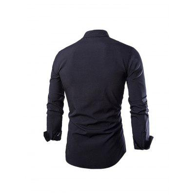 Casual Simple Fashion Long Sleeve ShirtMens Shirts<br>Casual Simple Fashion Long Sleeve Shirt<br><br>Material: Cotton<br>Package Contents: 1 x Men Shirt<br>Package size: 35.00 x 25.00 x 2.00 cm / 13.78 x 9.84 x 0.79 inches<br>Package weight: 0.3000 kg<br>Product weight: 0.2500 kg