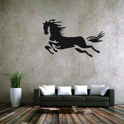 Buy BLACK Creative Running Horse Design Wall Sticker for $6.18 in GearBest store