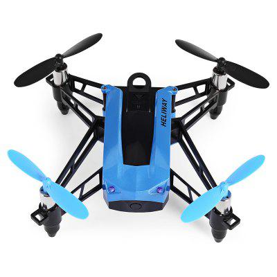 HELIWAY 903 2.4GHz 4CH Mini RC Quadcopter - RTFRC Quadcopters<br>HELIWAY 903 2.4GHz 4CH Mini RC Quadcopter - RTF<br><br>Age: Above 14 years old<br>Battery: 3.7V 600mAh lithium-ion<br>Battery Size: 5.2 x 3.1 x 1cm<br>Battery Weight: 21g<br>Brand: HELIWAY<br>Built-in Gyro: 6 Axis Gyro<br>Camera Pixels: 0 ( no camera )<br>Channel: 4-Channels<br>Charging Time.: about 1.5 hours<br>Compatible with Additional Gimbal: No<br>Control Distance: 50-100m<br>Detailed Control Distance: 60-80m<br>Features: Brushed Version, Radio Control, No camera<br>Flying Time: 6-7mins<br>Functions: Up/down, With light, Turn left/right, 3D rollover, Emergency Landing, Forward/backward, Headless Mode, One Key Landing, One Key Taking Off, Sideward flight, Slow down, Speed up<br>Kit Types: RTF<br>Level: Beginner Level<br>Material: PP, ABS/PS, Electronic Components, PA<br>Model: 903<br>Model Power: Built-in rechargeable battery<br>Motor Type: Brushed Motor<br>Package Contents: 1 x Quadcopter ( Battery Included ), 1 x Transmitter, 4 x Propeller Guard, 4 x Spare Propeller, 1 x USB Cable, 1 x Screwdriver, 1 x Wrench, 1 x English Manual<br>Package size (L x W x H): 22.00 x 19.20 x 12.00 cm / 8.66 x 7.56 x 4.72 inches<br>Package weight: 0.6630 kg<br>Product size (L x W x H): 10.50 x 10.50 x 4.70 cm / 4.13 x 4.13 x 1.85 inches<br>Product weight: 0.0700 kg<br>Radio Mode: Mode 2 (Left-hand Throttle)<br>Remote Control: 2.4GHz Wireless Remote Control<br>Size: Mini<br>Transmitter Power: 6 x 1.5V AA battery(not included)<br>Type: Quadcopter, Indoor