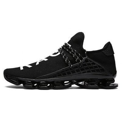 Buy BLACK 38 Male Stylish Light Outdoor Soccer Damping Athletic Shoes for $35.68 in GearBest store