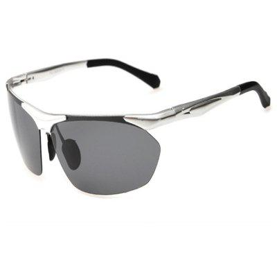 Buy SILVER GRAY CTSmart 8546 Polarized Lens Cycling Glasses for $14.19 in GearBest store