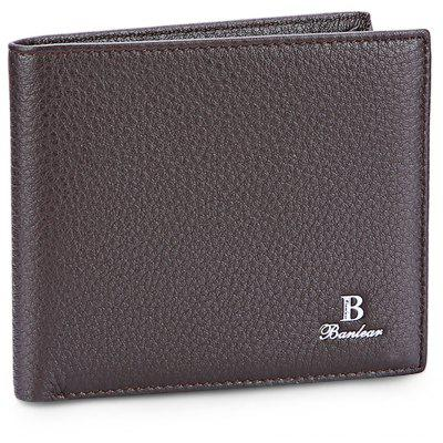 Banlear Casual Men Solid Color Wallet