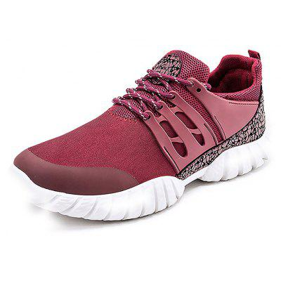 Male Breathable Elastic Lace Up Split Joint Sneakers