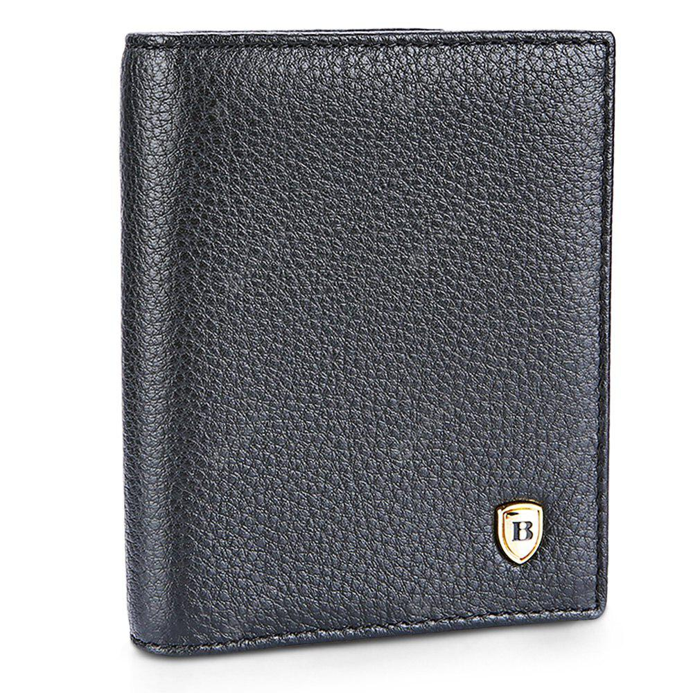 BLACK Banlear Classical Solid Color Men Wallet