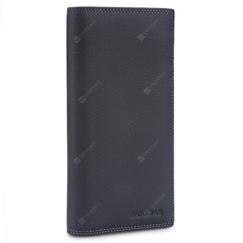 BLACK Banlear Wearable Genuine Leather Men Wallet