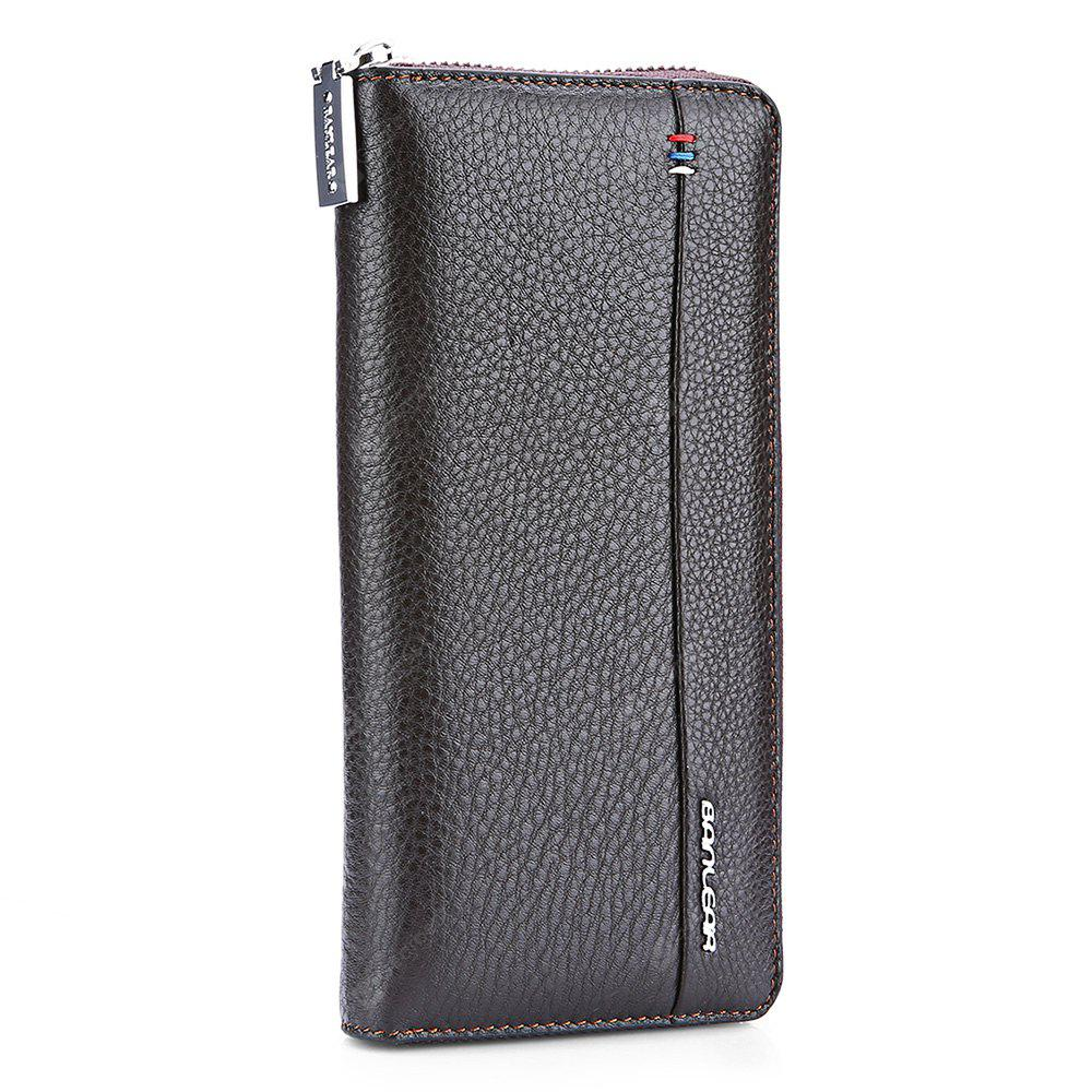 COFFEE Banlear Solid Color Men Clutch Wallet