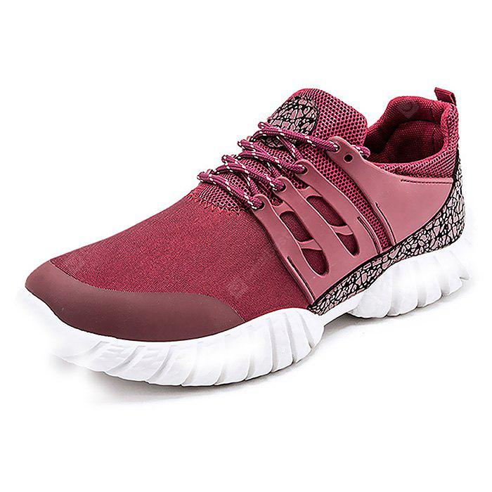 Masculino respirável Elastic Lace Up Split Joint Sneakers
