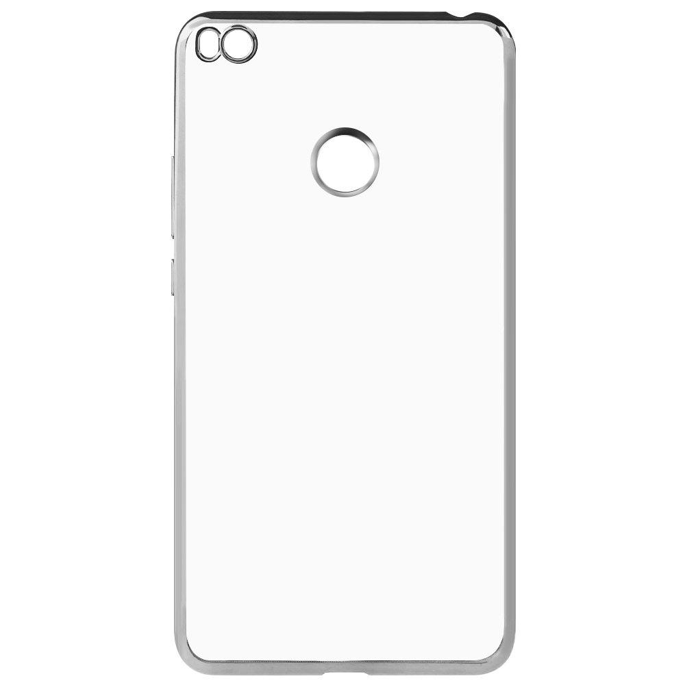 SILVER Luanke TPU Electroplating Phone Case for Xiaomi Mi MAX 2