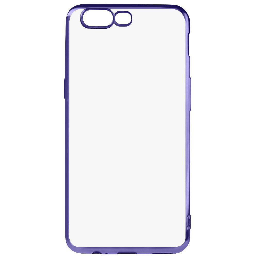 BLUE Luanke Electroplating Edge TPU Phone Case for OnePlus 5