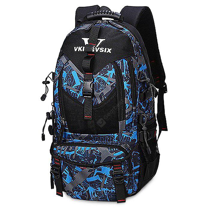BLUE AND BLACK Chic Printing Large Capacity Men Backpack