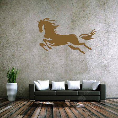 BROWN Creative Running Horse Design Wall Sticker
