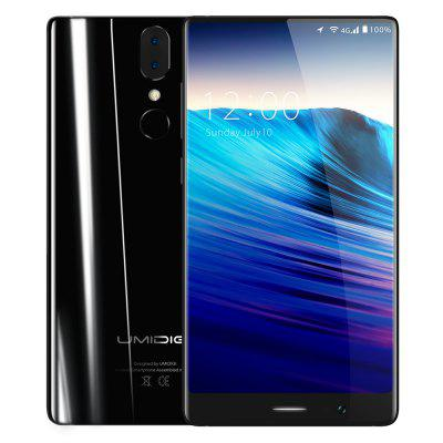 Gearbest UMIDIGI Crystal 4G Phablet 4GB RAM Version  -  BLACK