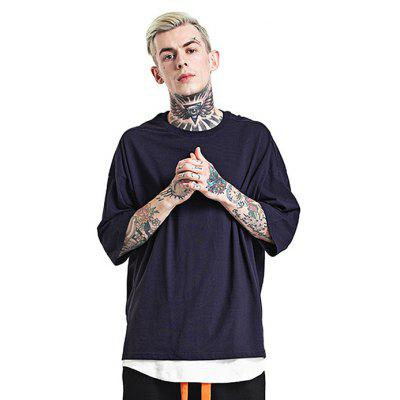 Oversized Round Neck 100 Cotton T-shirt for Men