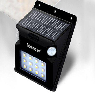 Solar LED Body Sensor Outdoor Street LightOutdoor Lights<br>Solar LED Body Sensor Outdoor Street Light<br><br>Battery Capacity: 1200mA<br>Features: Body Induction<br>Light Type: Solar Light<br>Luminous Flux: 150lm<br>Material: ABS<br>Optional Light Color: White<br>Package Contents: 1 x Solar light, 1 x Assembly Part<br>Package size (L x W x H): 13.50 x 10.50 x 6.50 cm / 5.31 x 4.13 x 2.56 inches<br>Package weight: 0.3900 kg<br>Powered Source: Solar<br>Product size (L x W x H): 12.50 x 9.50 x 5.10 cm / 4.92 x 3.74 x 2.01 inches<br>Product weight: 0.3000 kg<br>Rated Power (W): 1W<br>Rated Voltage (V): 5V<br>Sensing Angle / Distance: 180 degree