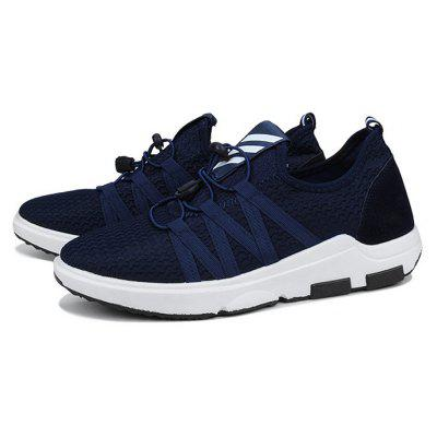 Male Breathable Lace Up Light Athletic Shoes